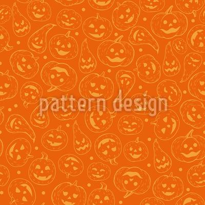 Cabaças Rindo Design de padrão vetorial sem costura