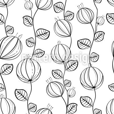 Abstrakte Lampion Blumen Designmuster