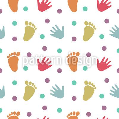 Hand Und Fußabdrücke Muster Design