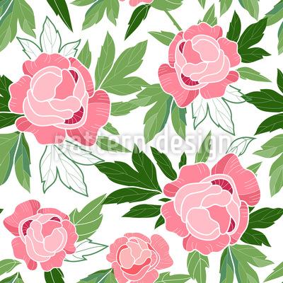 Floraler Charme Rapportiertes Design