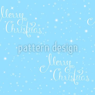 Schneeflocken Typografie Vektor Design