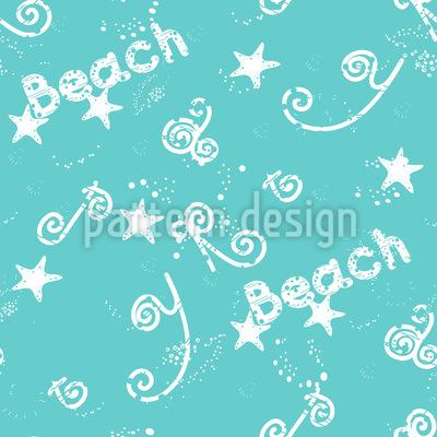 Strand-Weihnachtsfeier Designmuster
