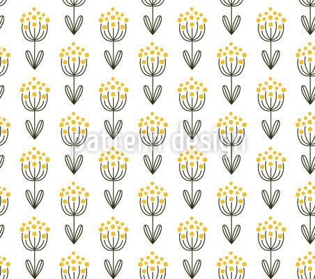 Doodle Blume-Symmetrie Vektor Ornament