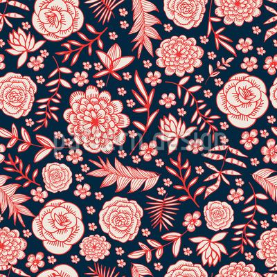 Blumenpracht Nahtloses Muster