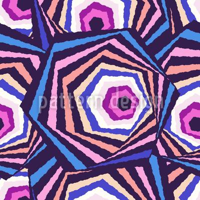 Sechseckige Augen Nahtloses Muster