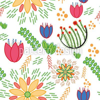 Frühlings Festival Nahtloses Muster