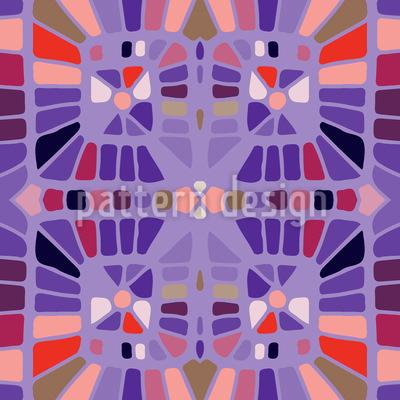 Retro Mosaik Schnoerkel Nahtloses Vektor Muster