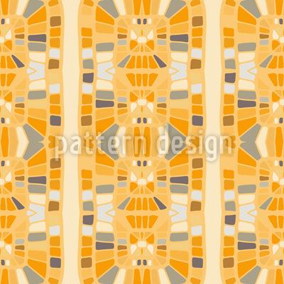 Retro Mosaik Borduere Vektor Muster