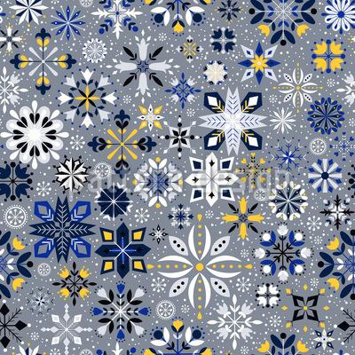 Festliche Schneeflocken Nahtloses Vektormuster