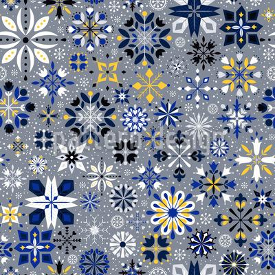 Edle Eiskristalle Nahtloses Vektor Muster