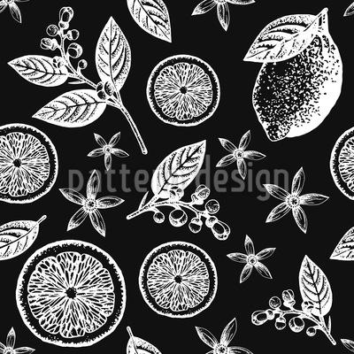 Vintage Zitronenblüte Vektor Design