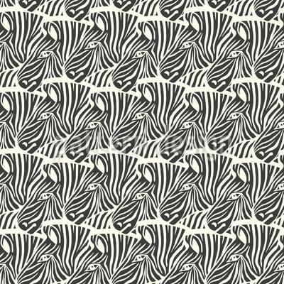 So Many Hidden Zebras Seamless Vector Pattern Design