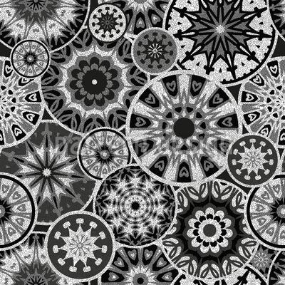 Circular Dentro Design de padrão vetorial sem costura