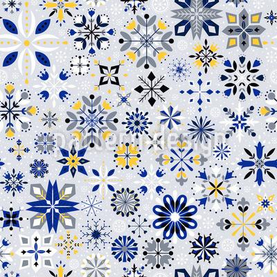 Winter Kristalle Nahtloses Vektormuster