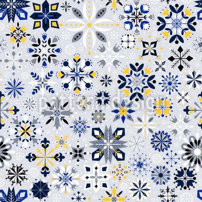 Kühle Kristalle Rapportiertes Design