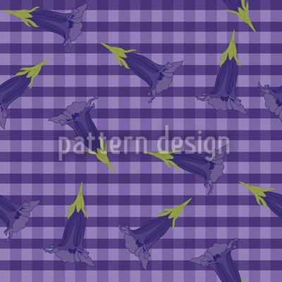 Blue Gentian Pattern Design