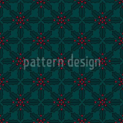 Weihnachts-Mistel Muster Design