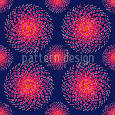 Spiral Nebula Seamless Vector Pattern Design