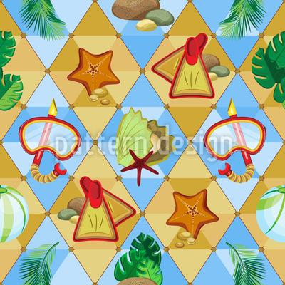Tropischer Strand Vektor Ornament