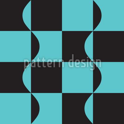 Kombination aus Quadraten und Wellenlinien Vektor Muster
