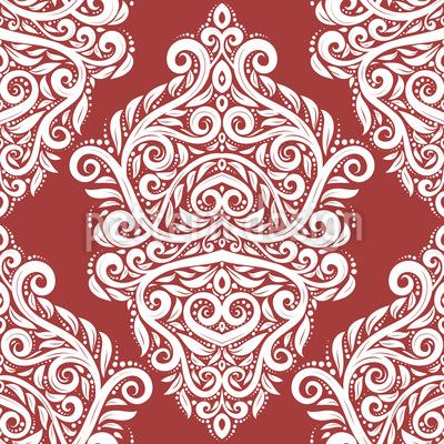 Russian Baroque Seamless Vector Pattern Design