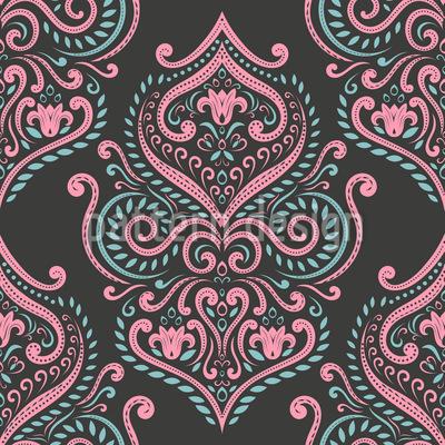 Boho Curlicue Design de padrão vetorial sem costura
