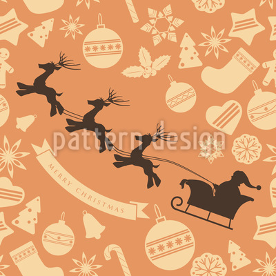 Santa Clause Team Vector Ornament