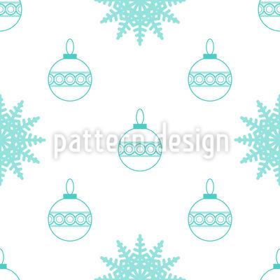 Schneeflocken Und Christbaumkugeln Musterdesign
