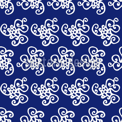 Oktopuss Träume Muster Design