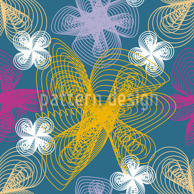 Spacy Floor Seamless Vector Pattern Design