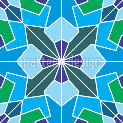 Kristallblumen Formationen Vektor Design