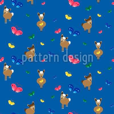 Lamas im Schmetterlingsschwarm Rapportiertes Design