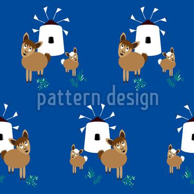 Lamas in Griechenland Designmuster
