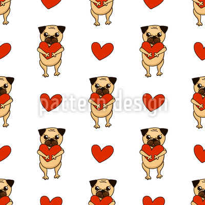 Lovely Pug Repeat Pattern