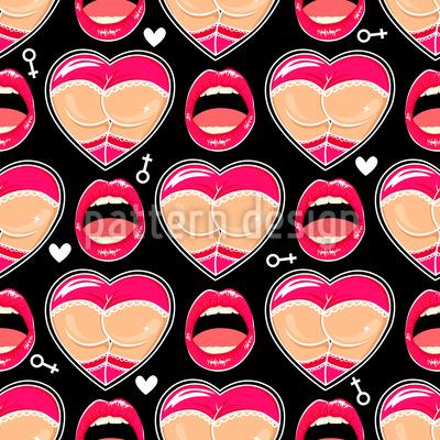 Verführerische Lippen Designmuster