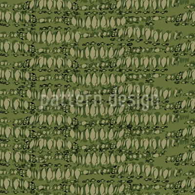 Reptilio Green Seamless Vector Pattern Design