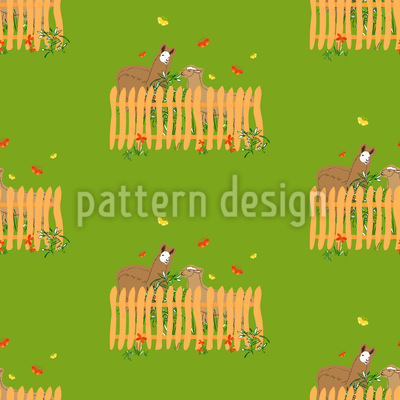 Imbiss am Nachmittag Vektor Muster