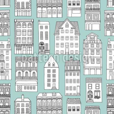 Stadt-Häuser Musterdesign