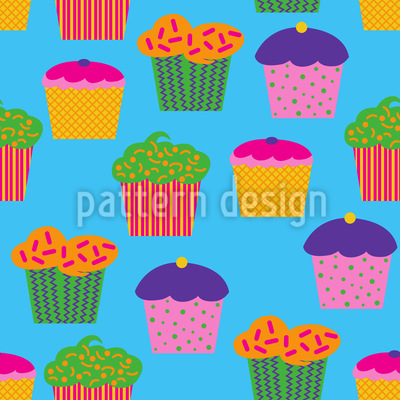 Köstliche Cupcakes Designmuster