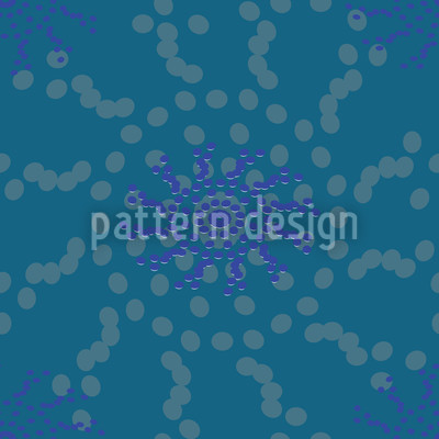 Dotted Flowers Seamless Vector Pattern Design