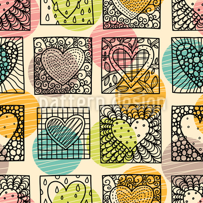 Formen von Herzen Vektor Muster