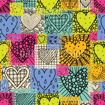 Flicken der Liebe Musterdesign