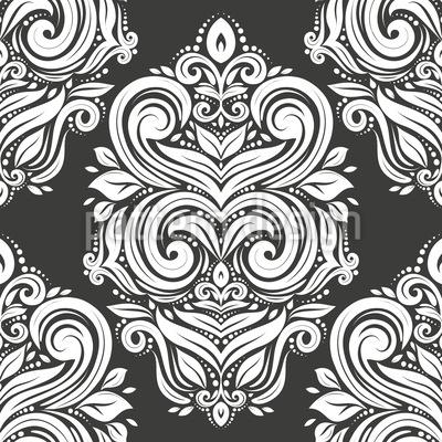 Nobre Damasco Design de padrão vetorial sem costura