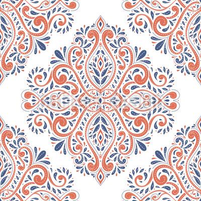 Flora Antiga Design de padrão vetorial sem costura
