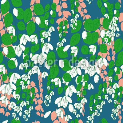 Bouganvillea Blau Nahtloses Muster