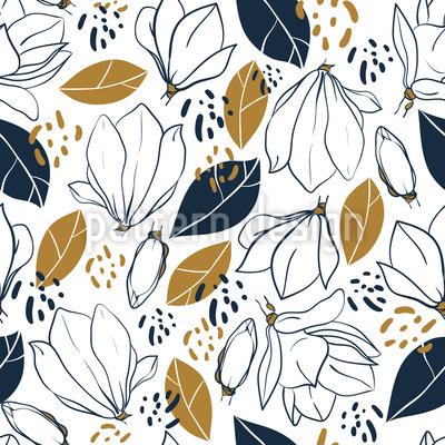 Grafische Magnolien Vektor Design