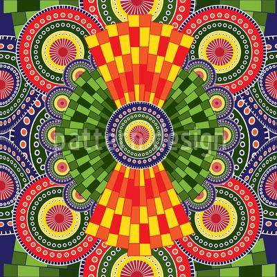 Mandala africain orné Motif Vectoriel Sans Couture