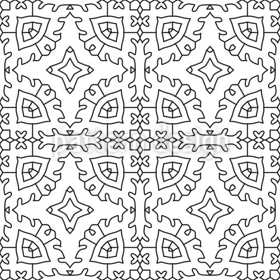 Um eine Form herumfahren Nahtloses Muster