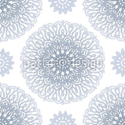 Gepunktetes Mandala Designmuster