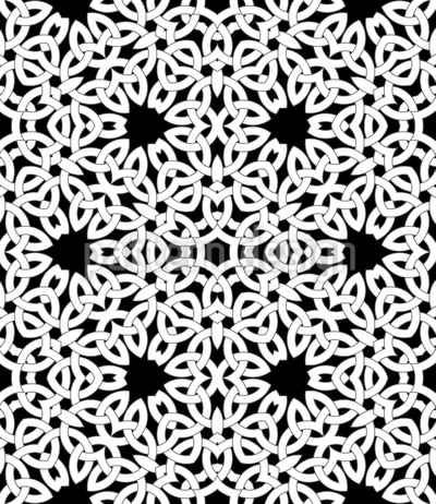 Gothic Celtic Knot Seamless Vector Pattern Design